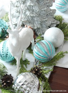 Winter Woodland Glam Christmas Centerpiece