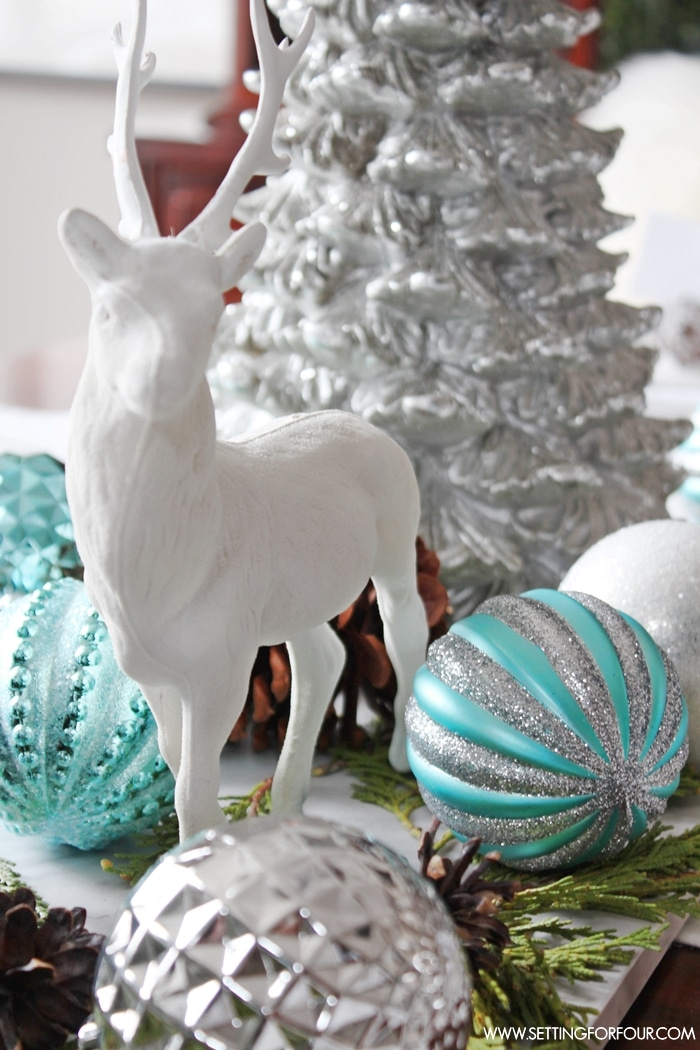 Decorative Ornaments For Living Room: Winter Woodland Glam Christmas Centerpiece