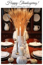 Thanksgiving Tablescape Decor www.settingforfour.com