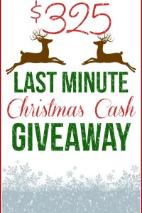 Enter to win this Last Minute $325 CASH Giveaway! Do some last minute holiday shopping! www.settingforfour.com