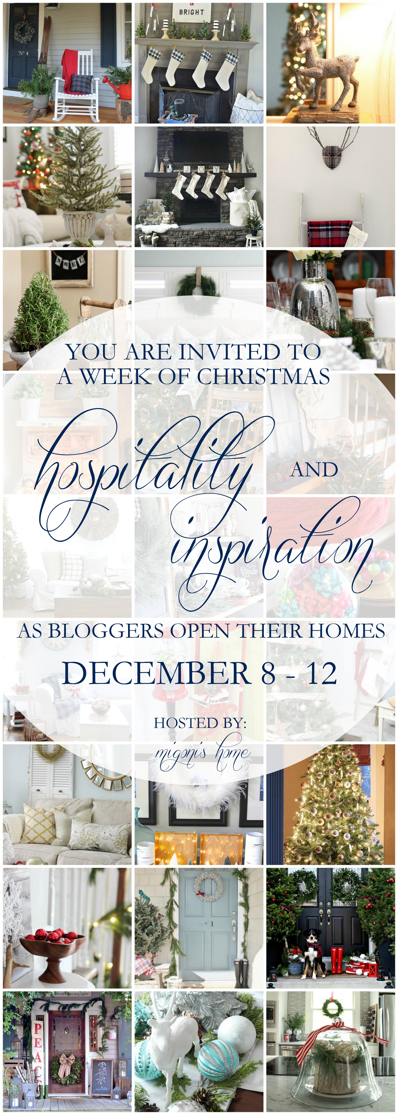 Come see 28 beautiful Christmas Home Tours! Lots of holiday hospitality and Christmas decorating inspiration! www.settingforfour.com