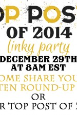Top Posts of 2014 Link Party – DIY, Decor Projects and Recipes
