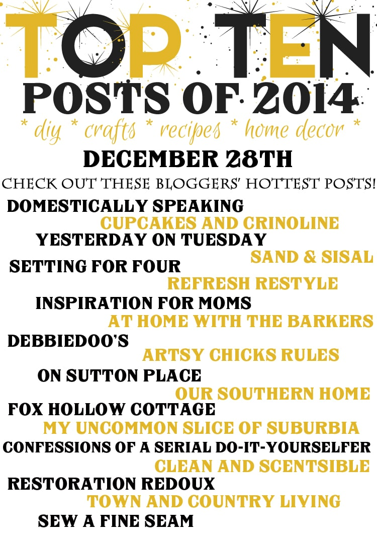 Top Ten Posts of 2014 Blog hop www.settingforfour.com