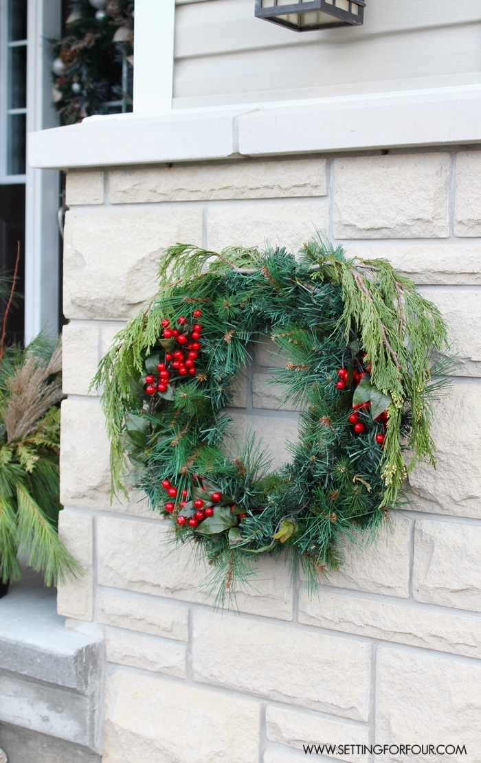Christmas Entryway Decorating Ideas Part - 43: See My Christmas Entryway Decor With Winter Woodland Glam Style! Front Door  Wreath And Garland