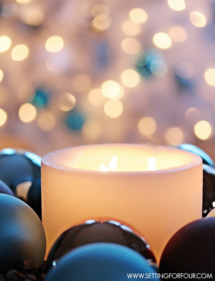 Christmas Holiday Candle Decor