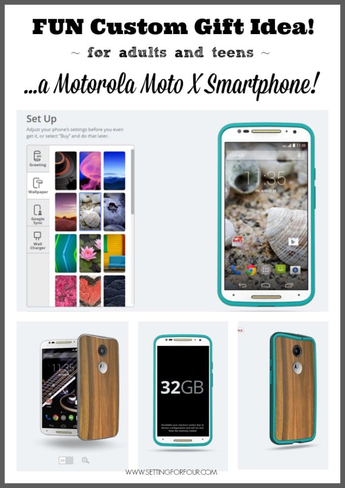 Fun Customize Gift Idea: Moto X Motorola Smartphone - helpful tech tips to customize it! www.settingforfour.com