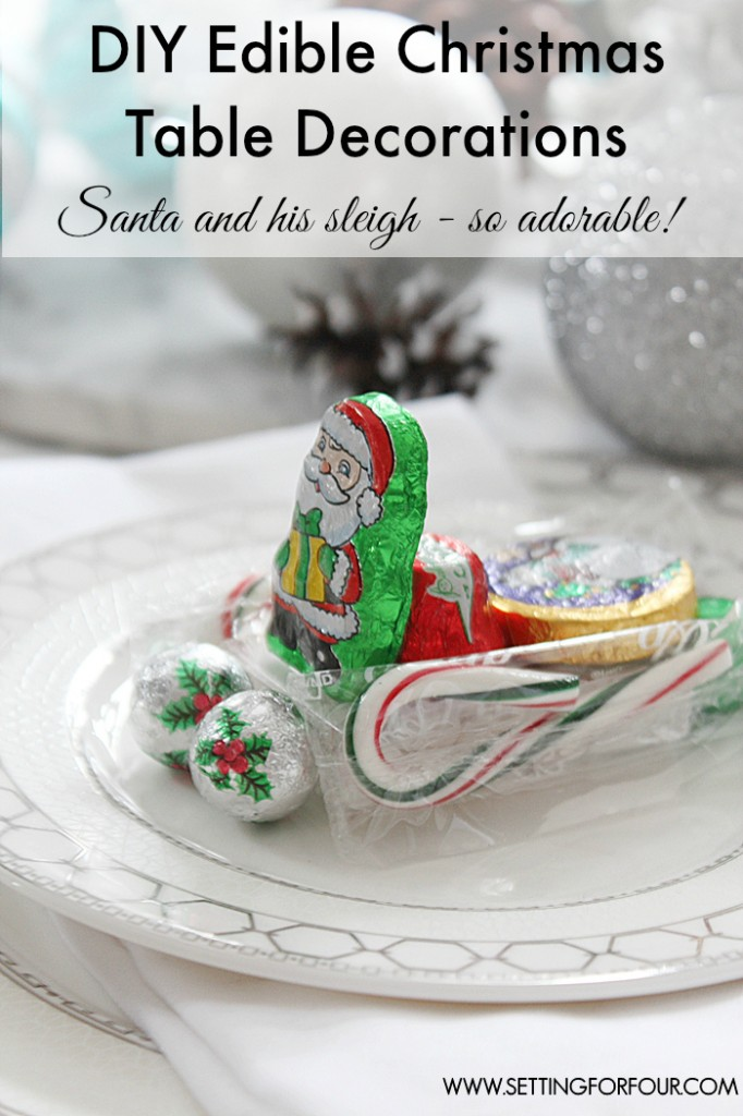 Diy edible chocolate christmas table decoration Diy christmas table decorations