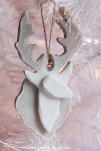 Painted Semi-Homemade Deer Ornament