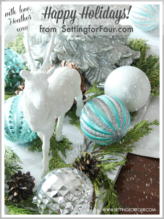 Merry Christmas with Love from Heather at SettingforFour.com