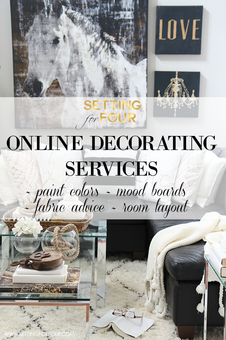 Online Decorating Services & Color Advice - Setting for Four