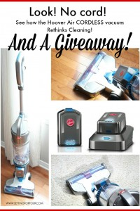 Hoover Air Cordless Vacuum Cleaner and a GIVEAWAY!