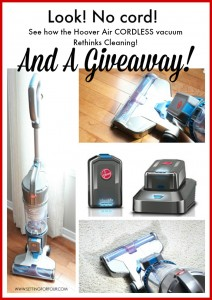 Home Cleaning with Hoover Air Cordless Vacuum