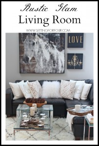 Rustic Glam Living Room + New Rug