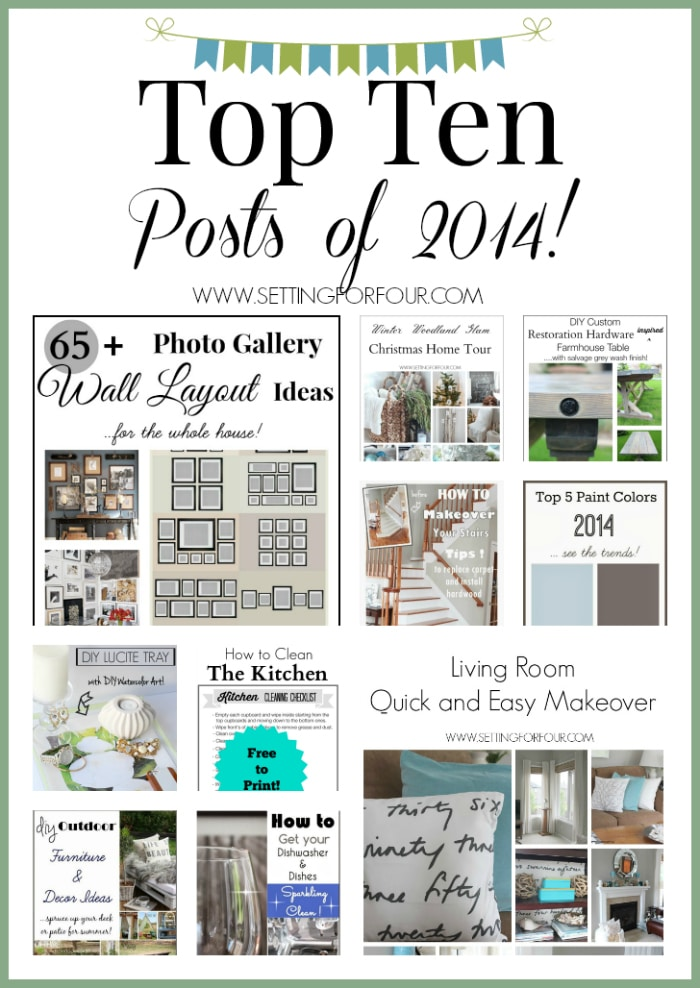 See my Top Ten most loved DIY's, crafts, decor ideas and tutorials! Lots of inspiration here! www.settingforfour.com