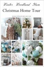 Winter Woodland Glam Christmas House Tour! See lots of DIY holiday decor ideas. www.settingforfour.com