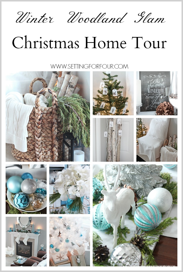 Winter Woodland Glam Christmas Home Tour - lots of holiday decor ideas! www.settingforfour.com