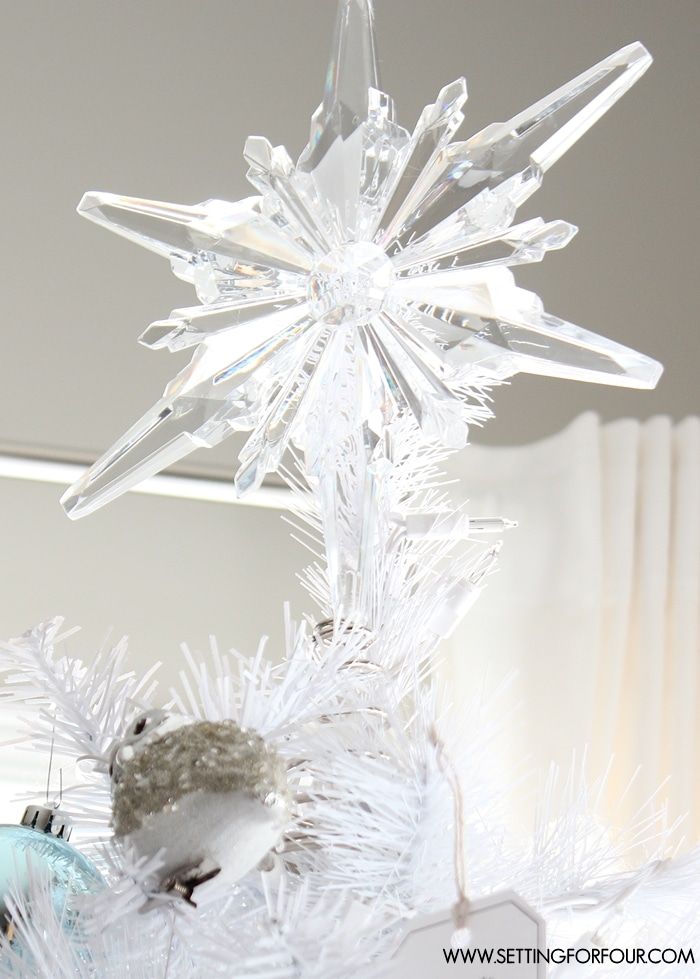 see how i decorated my winter woodland glam white christmas tree for the holidays woodland - White Christmas Tree Ideas