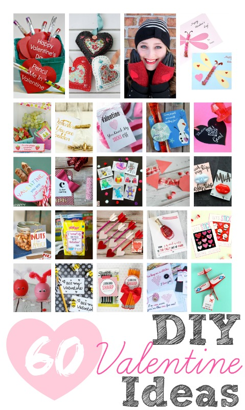 60 Handmade DIY Valentine Printables, Craft and Food gift Ideas to make for Valentine's Day! #diy #craft #decor #decorideas #food #printables #giftideas #valentinesday #galentinesday #kidsactivities #holiday #celebration