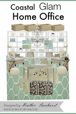 Coastal Glam Home Office | Mood Board Design