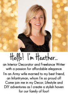 Hello! I'm Heather, Blogger at SettingforFour.com! Come join me in my Decor and DIY Adventures! Click to read all about me.