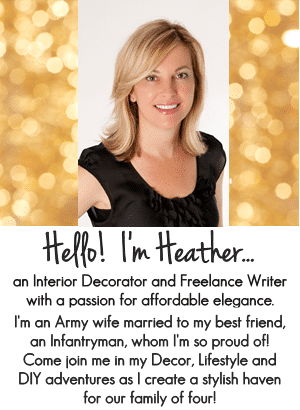 Hello! I'm Heather, Blogger at SettingforFour.com! Come join me in my Decor and DIY Adventures!