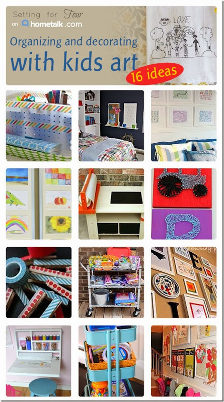 16 Amazing ways to Display and Organize Kids Art