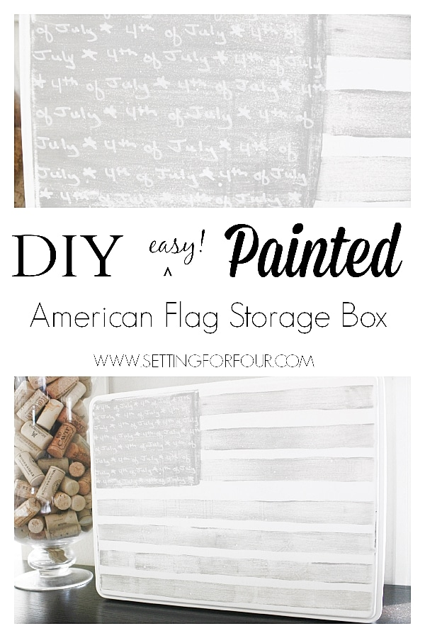 Easy DIY Painted American Flag Storage Tin www.settingforfour.com
