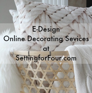 Need decor help? I'm an interior decorator who'd love to solve your decorating dilemmas! Contact me for my E-Design and Online Decorating Services! www.settingforfour.com
