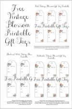 FREE Vintage Blossom Gift Tag Printables