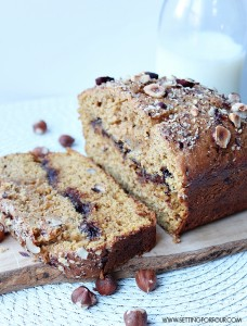 Delicious Hazelnut and Nutella Pumpkin Bread