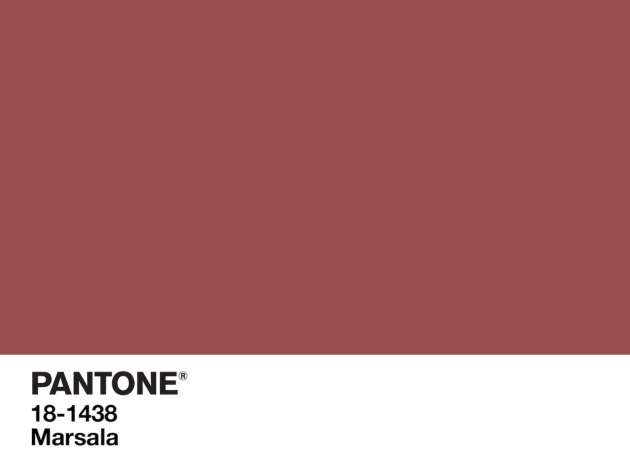 Marsala - Pantone's Color of the Year 2015. www.settingforfour.com