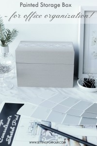Painted Storage Box Craft with Stencil