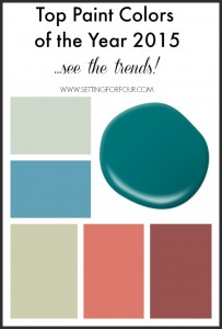 Top Paint Colors of the Year 2015 – Decor Trends