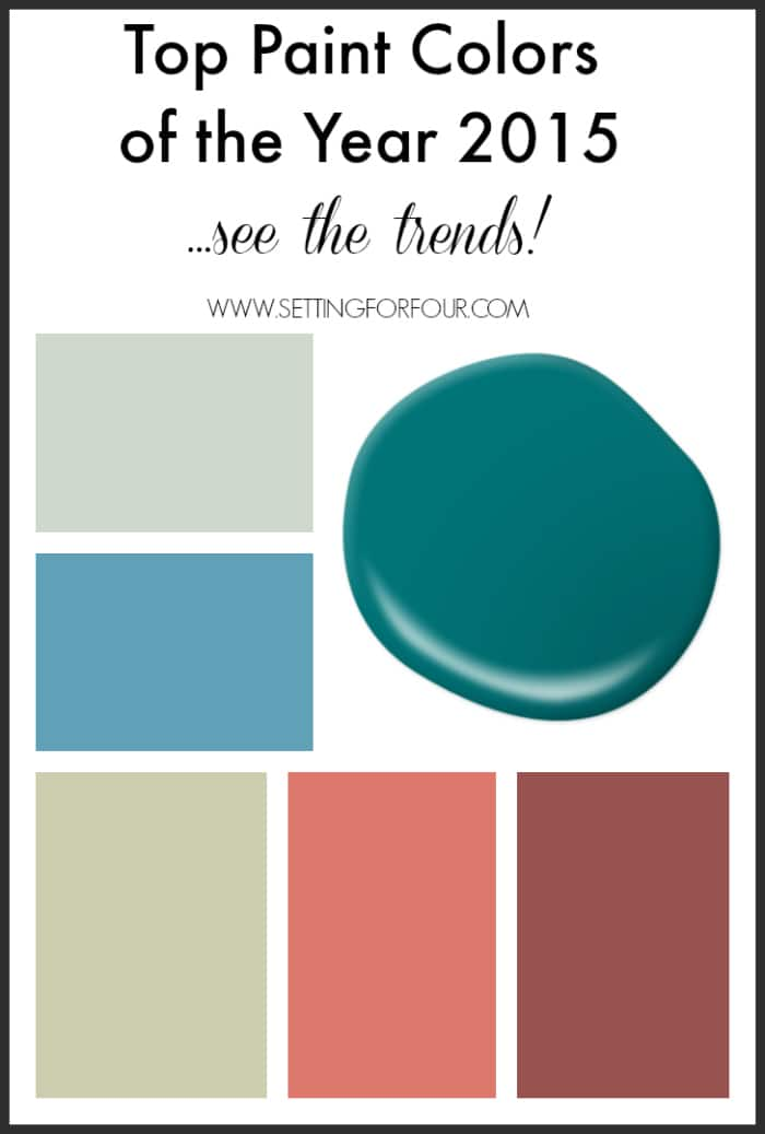 Top Paint Colors Of The Year 2015 Decor Trends Setting 2015 Zonanews