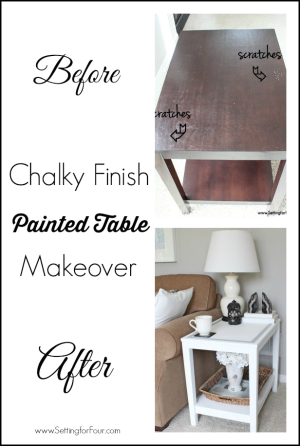 DIY chalk painted table - Update and refresh a damaged table the easy way!