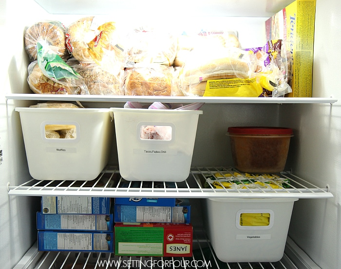 Very Five Easy Freezer Organizing Ideas - Setting for Four CJ79