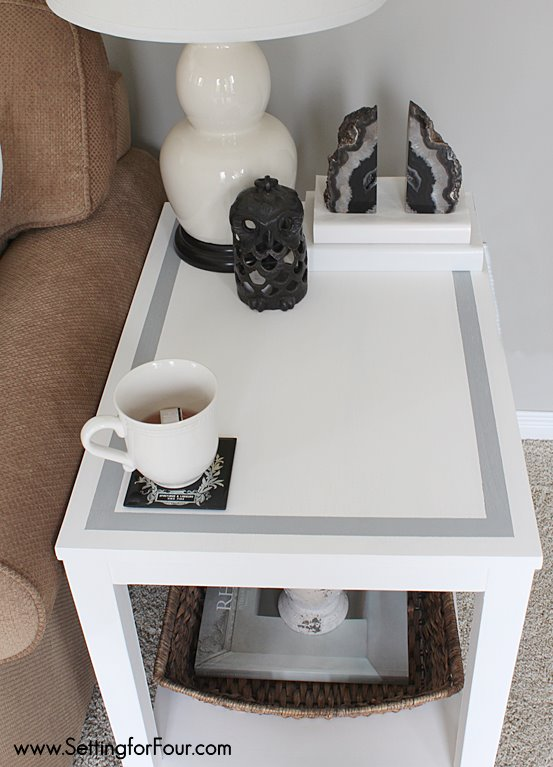 Easy chalk painted table makeover Refresh a dated and scratched table the easy way!