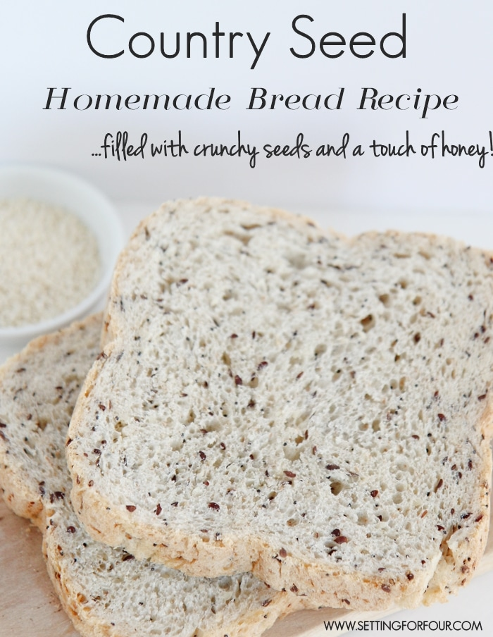 Make this quick and easy Country Seed Homemade Bread recipe. Filled with crunchy seeds and a touch of honey. So delicious!