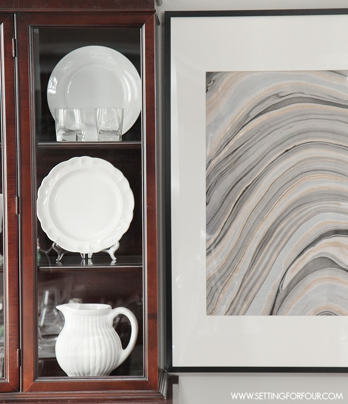 How to make this Clever DIY Wall Art Idea with a High End look and a bargain price of only $37! An Easy, Look for Less; Beautiful and Stylish DIY Decor that actually looks like real agate stone!