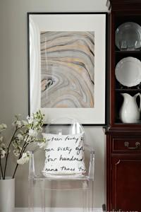 DIY Wall Art Idea using Marbled Paper