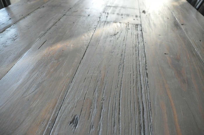 Diy Weathered Wood Stain Finishes Setting For Four