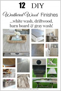 12 DIY Weathered Wood Finishes and Stains
