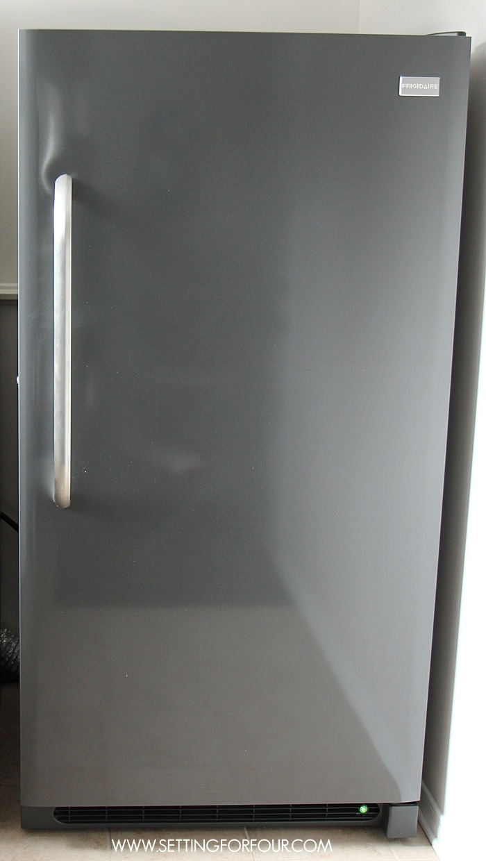Frigidaire Gallery Classic Slate Upright Freezer Review and 5 of my best quick and do-able freezer organizing ideas to simplify your life and meal prep!