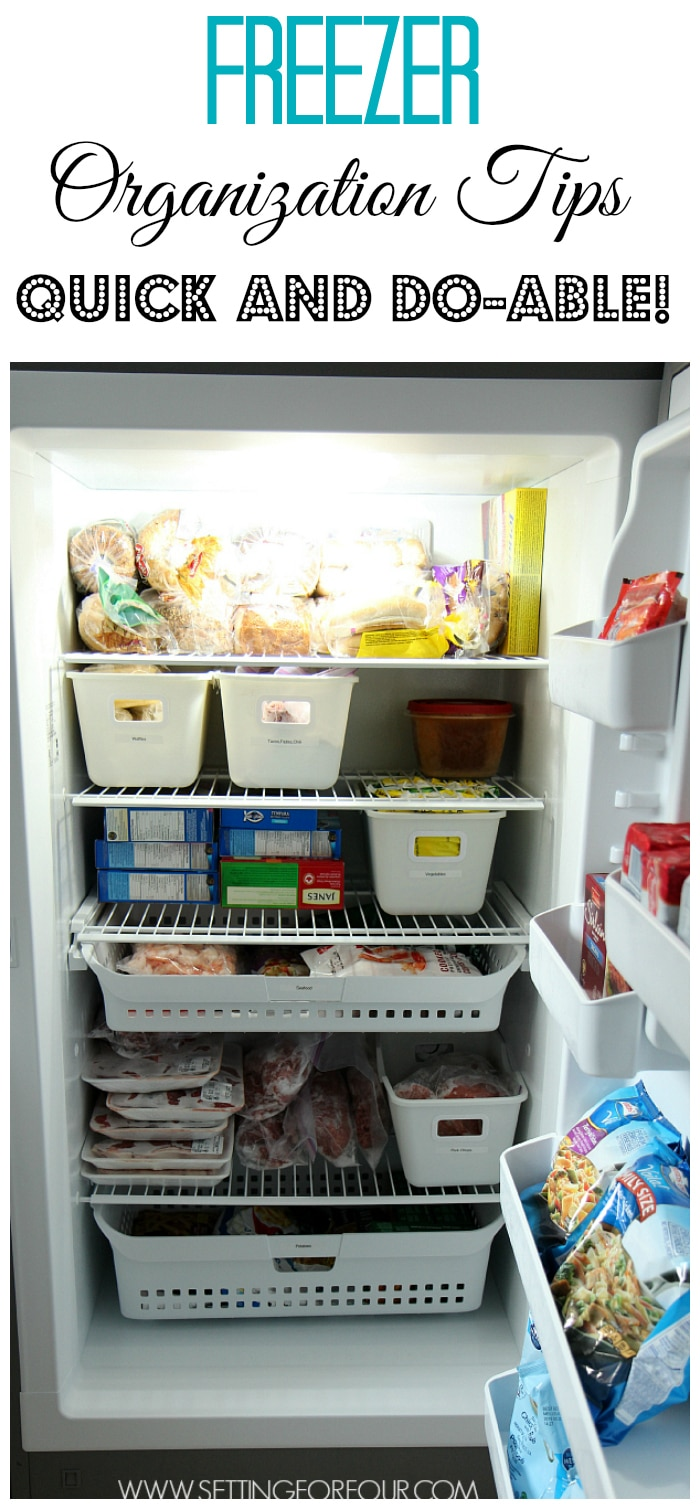 5 of my best quick and do-able freezer organizing ideas to simplify your life and meal prep! www.settingforfour.com