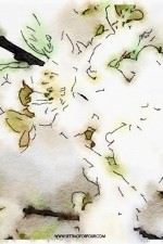 Watercolor flowering branches DIY art
