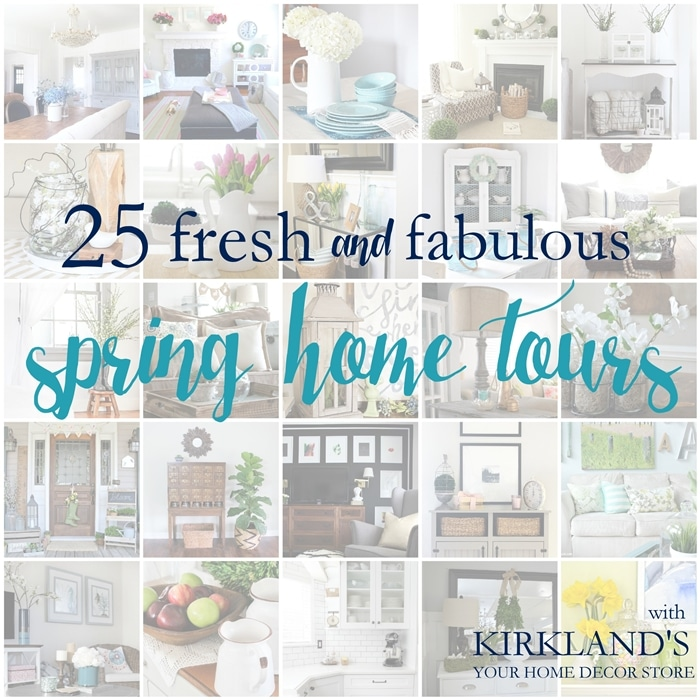 25 Fresh and Fabulous SPRING HOME TOURS! Lots of spring decor ideas for inside and outdoors!