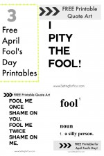 FREE Printables for April Fool's Day!