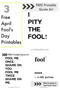 Free April Fool's Day Printable Quote Art