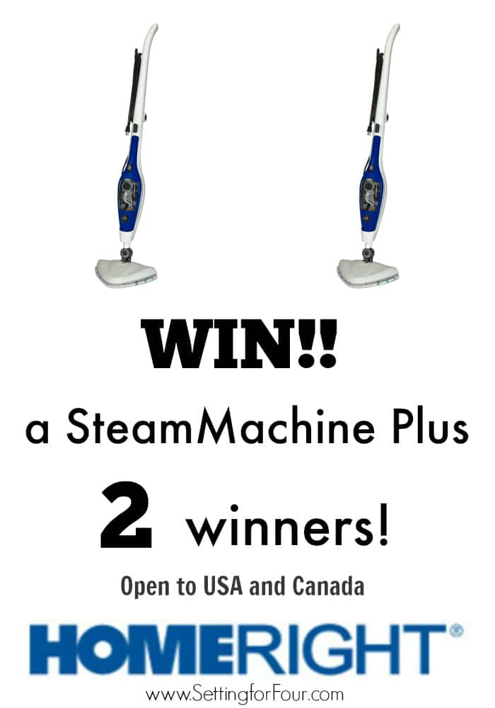 Giveaway! Open to USA and Canada! Enter to win one of 2 SteamMachine Plus machines! Clean your floors and grout the quick, easy and chemical FREE way! www.settinforfour.com #sp