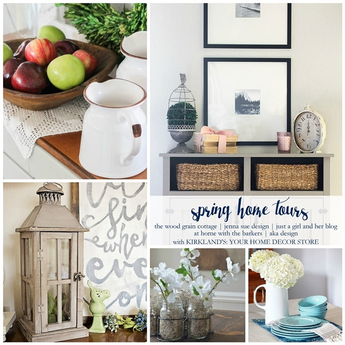 See 5 beautiful Spring Home tours for lots of Spring decor inspiration! www.settingforfour.com